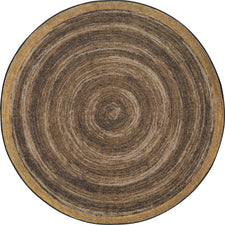 "Feeling Natural™ Walnut Classroom Carpet, 5'4"" Round"