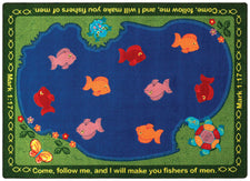 "Fishers of Men© Sunday School Rug, 7'8"" x 10'9"" Rectangle"