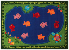 "Fishers of Men© Sunday School Rug, 7'8"" x 10'9""  Oval"