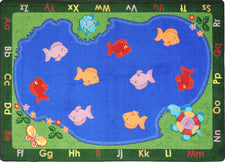 "Fishin' Fun© Classroom Circle Time Rug, 7'8"" x 10'9""  Oval"