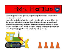 Fixing Fractions! Math Center Game with FREEbies