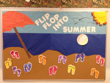 """Flip Flop into Summer"" Bulletin Board Idea"