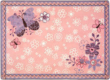 "Flower Fields© Kid's Play Room Rug, 5'4"" x 7'8"" Rectangle"