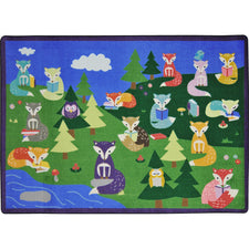"Foxy Readers™ Classroom Seating Rug, 5'4"" x 7'8"" Rectangle"