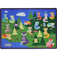 "Foxy Readers™ Classroom Seating Rug, 7'8"" x 10'9"" Rectangle"