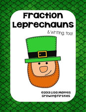 St. Patrick's Day Fraction Leprechaun FREEbie, with Bonus Writing Worksheet