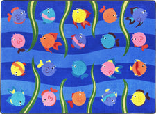 "Friendly Fish© Classroom Rug, 5'4"" x 7'8"" Rectangle"