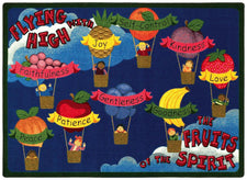 "Fruits of the Spirit© Sunday School Rug, 3'10"" x 5'4"" Rectangle"