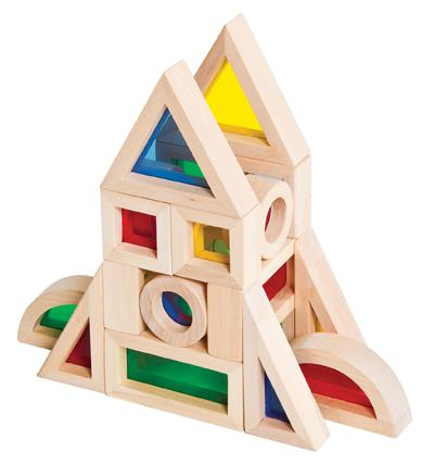 Jr. Rainbow Blocks, 20 Piece Set