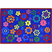 "Geared for Learning™ Classroom Seating Rug, 5'4"" x 7'8"" Rectangle"