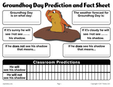 Groundhog Day Prediction & Discussion Worksheet