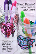 DIY Painted Glass Bottles & Jars