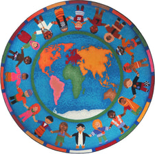 "Hands Around the World© Classroom Rug, 7'7""  Round"
