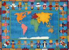 "Hands Around the World© Classroom Rug, 5'4"" x 7'8"" Rectangle"