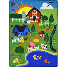"Happy Farm™ Play Room Rug, 5'4"" x 7'8"" Rectangle"