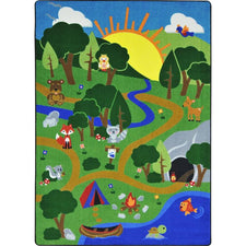 "Happy Forest™ Play Room Rug, 5'4"" x 7'8"" Rectangle"