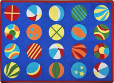 "Have a Ball© Classroom Circle Time Rug, 7'8"" x 10'9"" Rectangle"