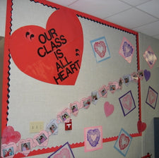 Our Class is All Heart - Valentine's Day Bulletin Board Display