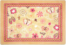 "Hearts & Flowers© Classroom Rug, 3'10"" x 5'4"" Rectangle"