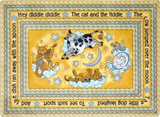"Hey Diddle Diddle© Kid's Play Room Rug, 3'10"" x 5'4"" Rectangle Yellow"