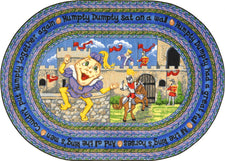 "Humpty Dumpty© Kid's Play Room Rug, 3'10"" x 5'4""  Oval"