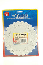 "Round Paper Lace Doilies, 4"" White"