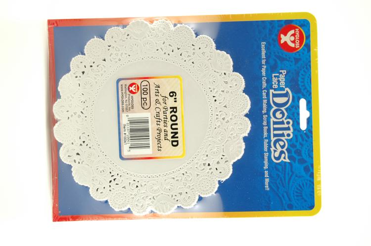 "Round Paper Lace Doilies, 6"" White"