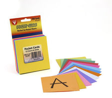 "Pocket Cards, 3"" x 3"" Assorted Colors"
