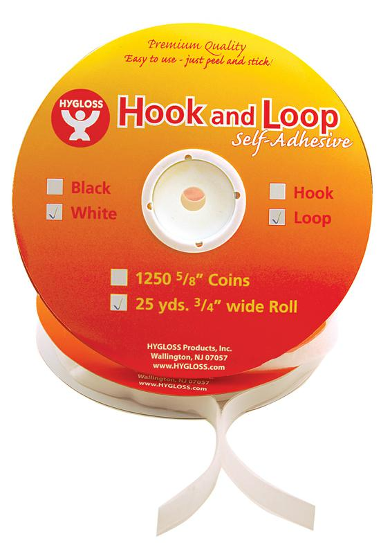 Hook & Loop Roll - White
