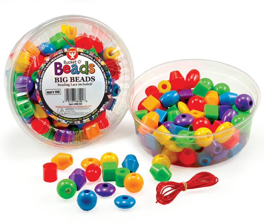 Big Beads, Assorted Shapes & Colors