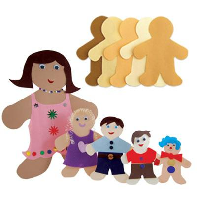 Culturally Diverse Family Cut-Outs, Big Kid
