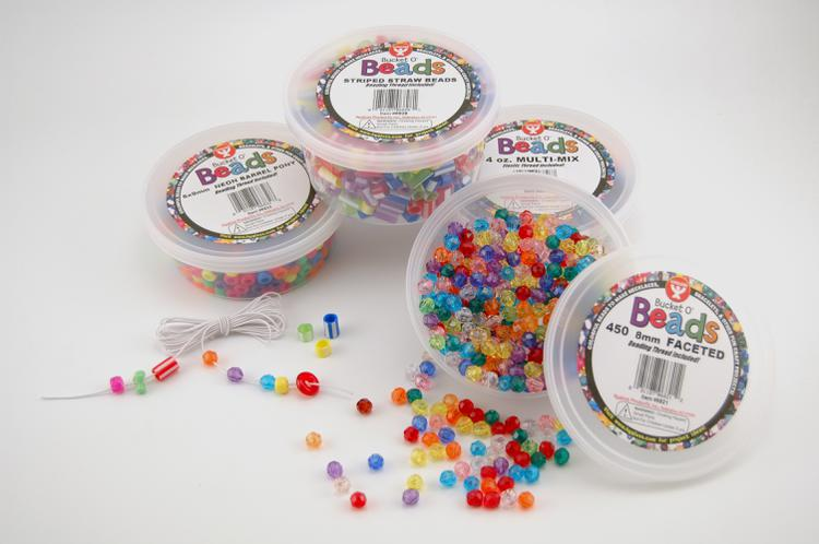 Bucket O` Beads, 450 Faceted