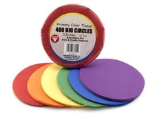 "5"" Tissue Paper Circles, Primary"
