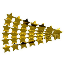 Stars Sticker Strips - 5 Gold Strips (Metallic)