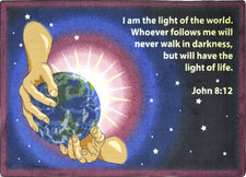 "I Am The Light© Sunday School Rug, 5'4"" x 7'8"" Rectangle"