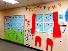 """Soaring To Great Things!"" Dr. Seuss Decor for B2S"