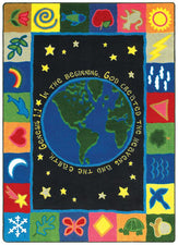 "In the Beginning© Sunday School Rug, 7'7""  Round"