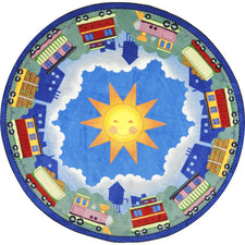 "In Training© Kid's Play Room Rug, 5'4""  Round"