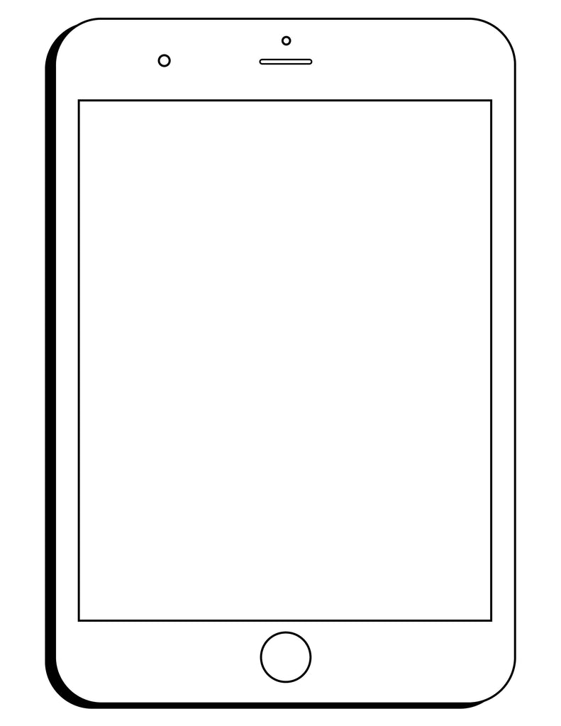 Ipad Blank X on fall coloring math worksheet 1st grade