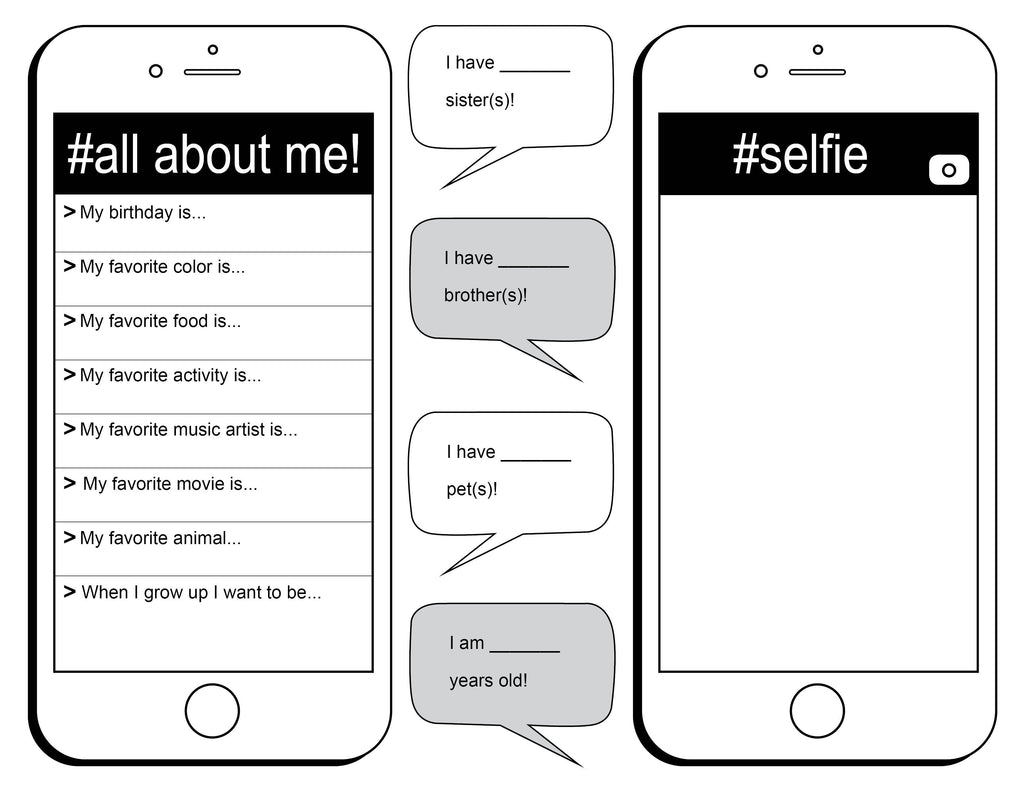 image regarding All About Me Free Printable Worksheet named All Relating to Me\