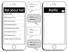 """All About Me"" Social Media Themed FREE Printable Worksheet"