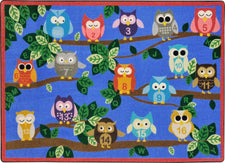 "It's A Hoot© Classroom Rug, 5'4"" x 7'8"" Rectangle"