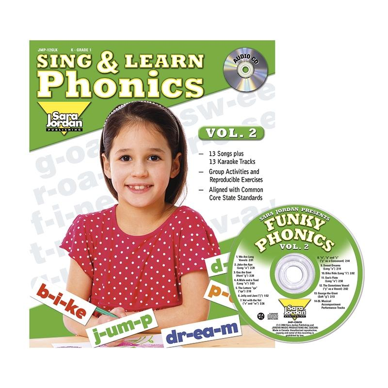 Sing & Learn Phonics, Vol. 2, Book with Audio CD