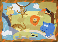 "Jungle Babies© Kid's Play Room Rug, 3'10"" x 5'4"" Rectangle"