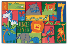 Jungle Fever KID$ Value Discount Carpet, 4' x 6' Rectangle