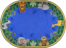 "Jungle Friends© Kid's Play Room Rug, 3'10"" x 5'4""  Oval"