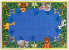 "Jungle Friends© Classroom Rug, 5'4"" x 7'8"" Rectangle"