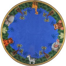 "Jungle Friends© Classroom Rug, 7'7""  Round"