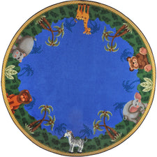 "Jungle Friends© Classroom Rug, 5'4""  Round"