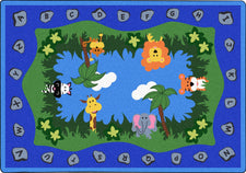 "Jungle Peeps© Classroom Circle Time Rug, 7'8"" x 10'9"" Rectangle"